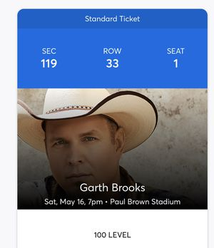 2 Garth Brooks Tickets ( Can transfer thru Ticketmaster) for Sale in Fort Thomas, KY