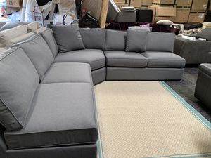 Dawson Gunmental 3 Piece sectional couch for Sale in Corona, CA