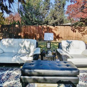 !!!Beautiful Black And White Modern Style Living Room Set!!! for Sale in Reedley, CA
