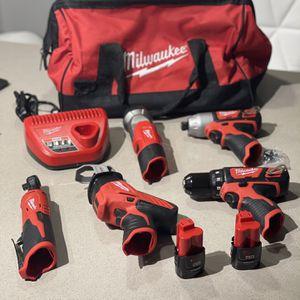 Brand New Milwaukee 5 Pcs Set M12 for Sale in San Antonio, TX