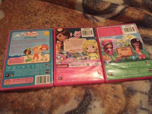 3 strawberry shortcake dvds