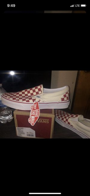 Checkerboard Vans Men 10.5 / women 12 for Sale in Austin, TX