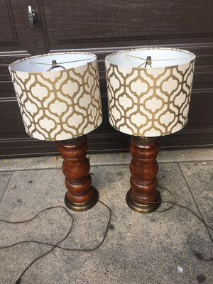Pair really nice lamps for Sale in Los Angeles, CA
