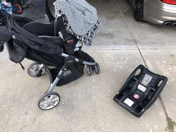 Britax infant car seat, base and stroller - $60