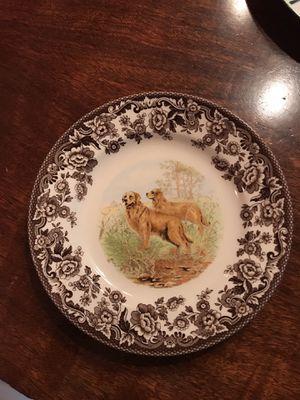 Spode Golden Retriever plate for Sale in Seattle, WA