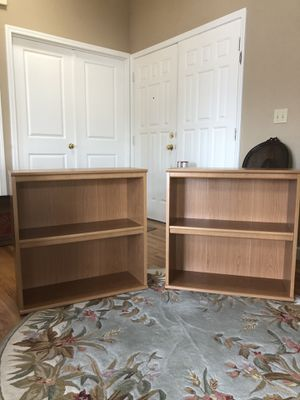 Two 30 inch by 30 inch book shelves 11 inches deep.These two bookshelves do stack done for Sale in Gig Harbor, WA