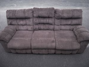 GREAT Double Recliner Sofa/Couch with Cup Holder Storage! for Sale in Chesterfield, VA