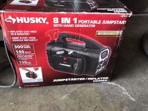Husku 8 in 1 Portable Jumpstart with Hand Generator for Sale in Rosemead, CA