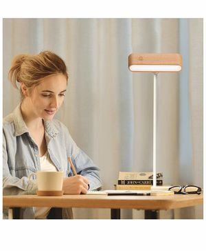 Brand new Desk Lamp (Noble Wooden Magnetic Dimmable 360°Rotatable) LED Table Lamp, Reading Lights for Books in Bed, USB Rechargeable for Sale in Las Vegas, NV