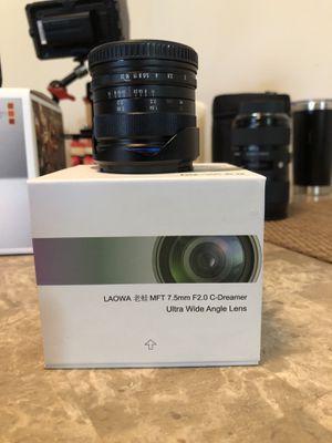 Laowa 7.5mm ultra wide MFT for Sale in Princeton, NJ