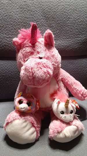 Unicorn teddy bears (teeny tys) for Sale in Hesperia, CA