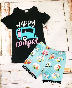 Happy camper girls summer set for Sale in Mary Esther, FL