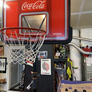 Basketball Hoop Brand new Never Been Outside. Adjustable! Lifetime Coca-Cola for Sale in Battle Ground, WA