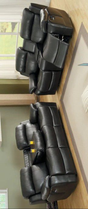 💯Marille Black Bonded Leather Reclining Living Room Set by Homelegance for Sale in Glen Burnie, MD