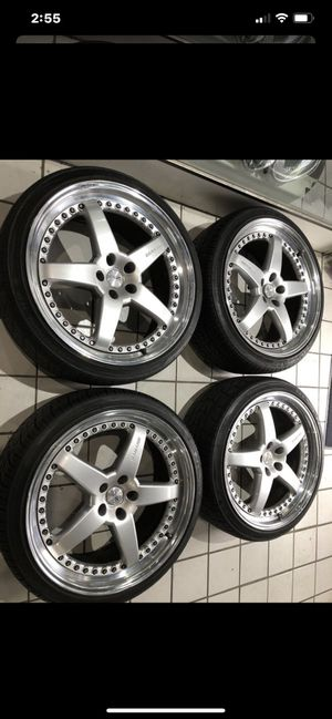 "22"" OZ racing wheels rims Porsche macan Audi Q5 Mercedes bmw r500 r63 HRE BBS for Sale in Alhambra, CA"