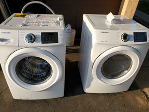 Samsung washer and dryer front loader still with stickers for Sale in Anaheim, CA