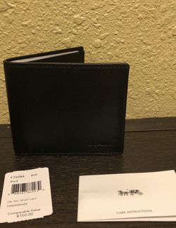 Brand New With Tags Coach Men's Leather Wallet for Sale in Downey,  CA