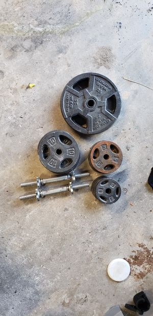dumbbell set 2x25, 4x10, 4x5, 4x3 for Sale in Miami, FL