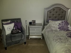 Girls, elderly mother bedroom set with like new bed for Sale in Phoenix, AZ