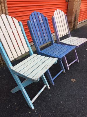 Vintage Folding Deck Chairs for Sale in Springfield, VA