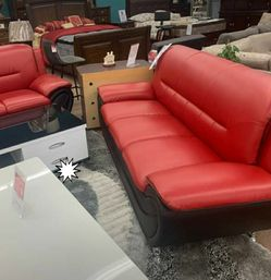 🎁BRAND NEW 🎇Enna Red/Black Sofa & Loveseat | U2705 49 for Sale in Laurel,  MD