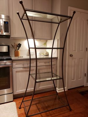 industrial modern rod iron shelf for Sale in Raleigh, NC