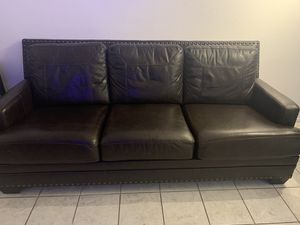 Ashley Furniture Leather Sleeper Sofa. $735 OBO for Sale in Palm Springs, CA