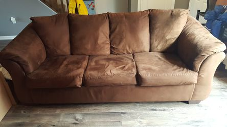 Brown Suede Sleeper Sofa for Sale in Columbus,  OH