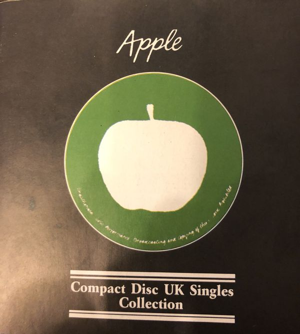 APPLE BEATLES COMPACT DISC UK SINGLES BOX SET COLLECTION