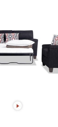 Black Couch With Pull Out Bed Brand New Bought It In The End Of December for Sale in Mesa, AZ