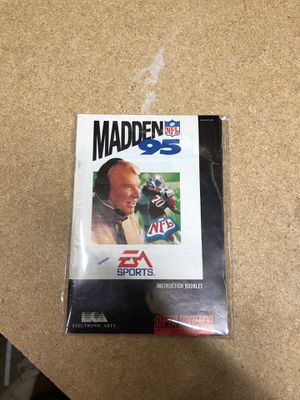 Madden 95 instruction booklet for Sale in Los Angeles, CA