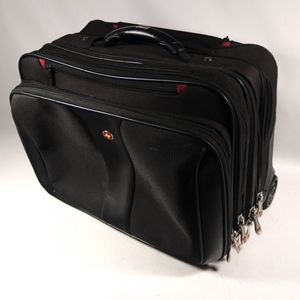 "6x9""&13"" Black Swiss Luggage Briefcase Baggage Travel Case Carrier with Wheels & Handle for Sale in Mesa, AZ"