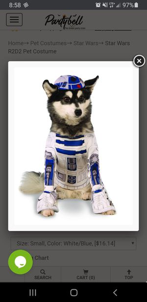R2D2 and bb-8 dog costumes for Sale in Stanley, NC