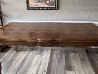 Antique French Oak ~Hand Carved ~Drawleaf Dining Table~ C1900 ~Louie XV Style for Sale in Vancouver,  WA