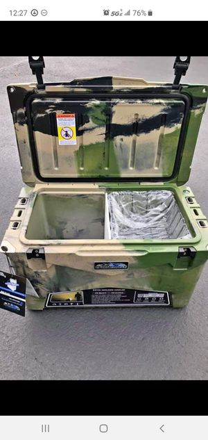 Brand New Roto-molded top of line 45 Camo Cooler & 80 more items here for Sale in Kirkland, WA