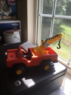 Vintage Fisher Price Husky Helpers Orange Tow Truck for Sale in Charlotte, NC