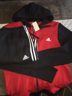 Adidas all cotton sports set with a hoodie... Size men L for Sale in Kissimmee, FL