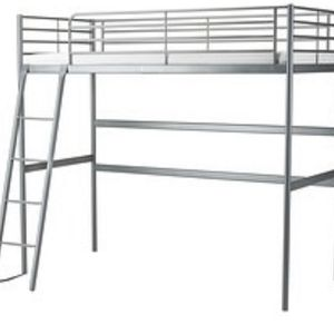 SVARTA IKEA TWIN LOFT BED FRAME for Sale in Massapequa, NY