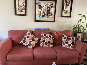 Burnt orange couch - 8 years old in good condition for Sale in Rockville, MD