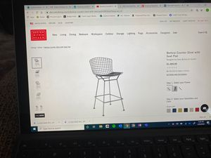 3 Bertoia Stools with Seat Pad for Sale in Phoenix, AZ