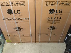 LG washer and dryer (NEW) for Sale in Durham, NC