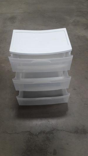 sterlite white plastic 3 drawer durable storage bin for Sale in Laguna Hills, CA