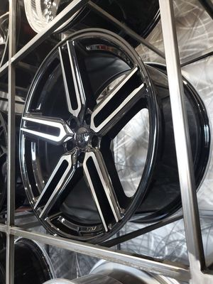 Black machine face 20x9/20x10 rims fits mustang Infiniti Nissan 5x114 +35 for Sale in Tempe, AZ