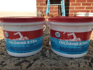 Chlorine x-tra all in one - two jugs 4lbs. each asking $15 for Sale in Sicklerville, NJ