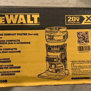 New 20v Dewalt Xr Brushless Router Only for Sale in Los Angeles, CA