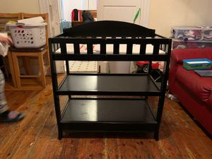Baby changing table with shelves for Sale in Haverhill, MA