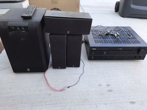 Yamaha stereo receiver, subwoofer and speakers for Sale in Fontana, CA