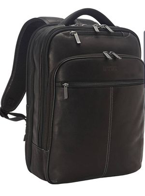 Kenneth Cole Back Stage Access Colombian Leather Laptop Backpack - Black for Sale in Seffner, FL