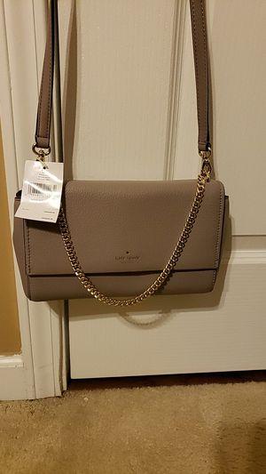 New Kate Spade Gray Leather Crossbody for Sale in Stockbridge, GA