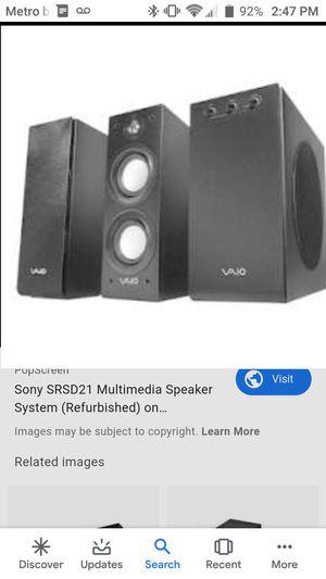Vaio sony speakers for Sale in San Antonio, TX